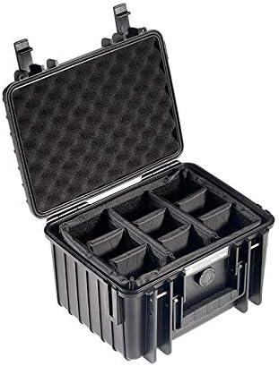 小さなハードケース安全保護ボックス一眼レフカメラドローン防水防湿ボックス収納ボックス、B