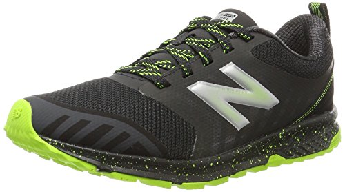 (New Balance Kids'  V3 Trail-Runners,Grey/Lime,1 Medium US Little)