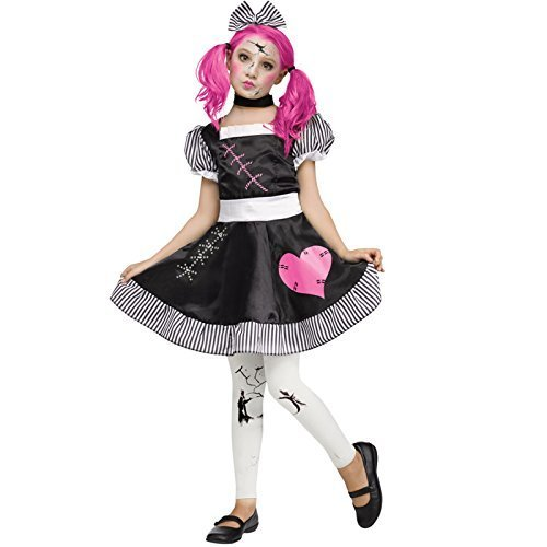 [Deluxe Girls Kids Childrens Halloween Party Broken Damaged Rag Doll Zombie Ghost Fancy Dress Costume Childs Outfit (12-14 years) by] (Broken Rag Doll Costume)