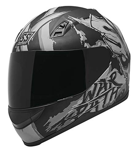 Speed and Strength SS700 War Path Motorcycle Helmet Black/Charcoal XL
