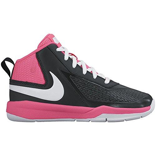 40b945bd5f Galleon - NIKE Boy's Team Hustle D 7 Basketball Shoe Black/White/Hyper Pink  Size 12 Kids US