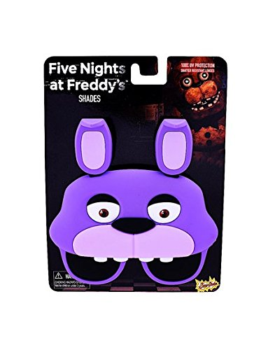 Sun-Staches Costume Sunglasses Five Nights Freddy Bonnie Bunny Party Favors ()