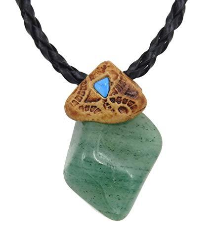 Smoky Quartz Aventurine Crystals and Healing Stone Necklace, Surfers Necklace, Hand Made Art Unisex -