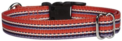 Waggo Line Up Collar - Rosy - Small - 10-16 x 5/8 inches