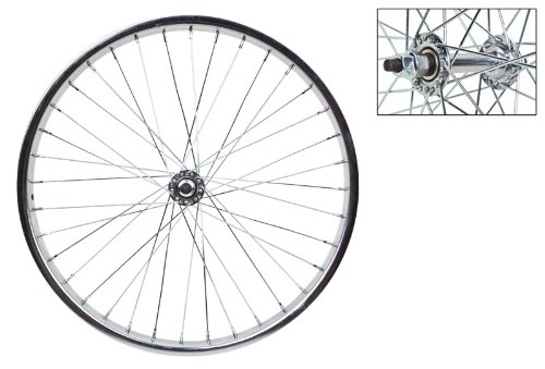 WheelMaster 20'' x 1.75 Front Bicycle Wheel, 36H, Steel, Bolt On, Silver