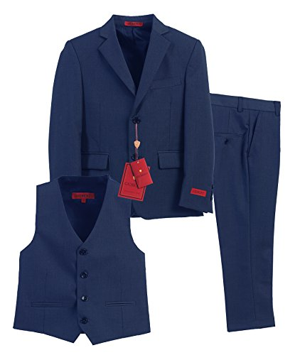Gioberti Boy's Formal 3 Piece Suit Set, Royal Blue, Size 3T -