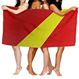 Beach Towel Flag of Macedonia_920 80cm X 130cm Soft Lightweight Absorbent for Bath Swimming Pool Yoga Pilates Picnic Blanket Towels