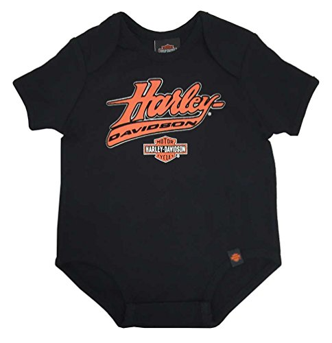 Harley-Davidson Baby Boys' Interlock Creeper, H-D Felt Script, Black 0263094 (18M)