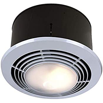 Broan-Nutone9093WHExhaust Fan, Heater, and Light Combo, Bathroom Ceiling Heater, 1500-Watts, 70 CFM
