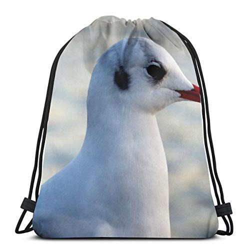 Seagull bird beak Drawstring Backpack Bag Lightweight Gym Travel Yoga Casual Sackpack Shoulder bag for Hiking Swimming beach