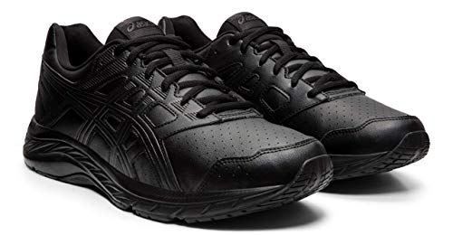 ASICS Gel-Contend 5 SL Men's Walking Shoes, Black/Graphite Grey, 12.5 XW -
