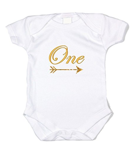 - Wholesale Princess Printed Graphic White Onesie - One w/Arrow-6 Months