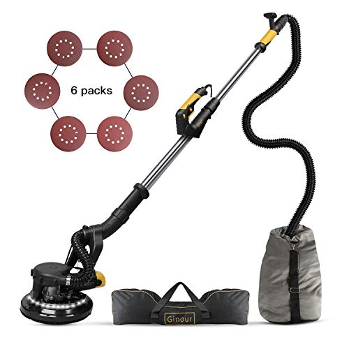 Ginour 360° 750W Drywall Sander With Vacuum Attachment