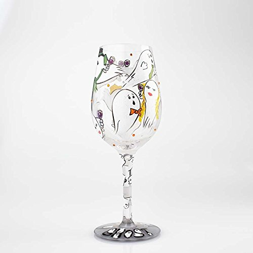 Enesco 6000214 Wine Glass Toast From a Ghost, Multicolor -
