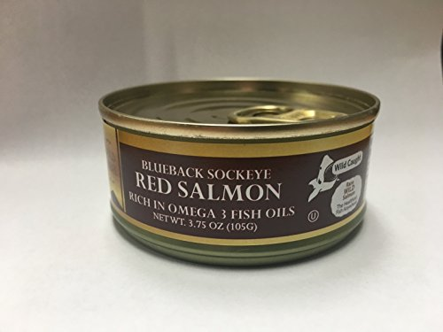 Gold Label Blueback Sockeye Red Salmon, 3.75 Ounce Easy Open Can. (4 Pack) Wild Caught - Kosher
