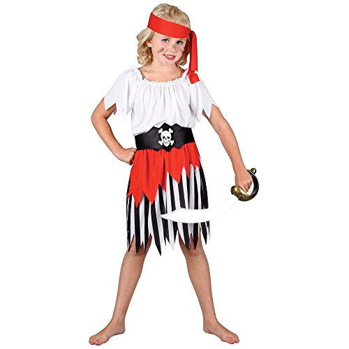 Girls High Seas Pirate Girl (S) Costume Age 3-4 (Halloween Costumes Age 3-4 Uk)