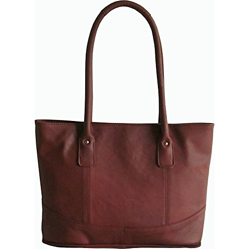 AmeriLeather Casual Leather Tote (Brown) (Leather Amerileather Tote)