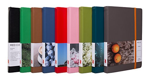 """Red Co""""Impressions"""" Collection Ocean Wave Blue Hardcover Notebook Journal, 240 Pages, 5""""x7""""- Dotted/Points"""