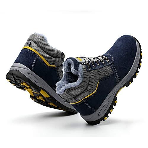 Embout Chaudes En Homme Bleu Sécurité Hiver Femme De Chaussure Marine Sneakers Acier Travail q4Hx0nY