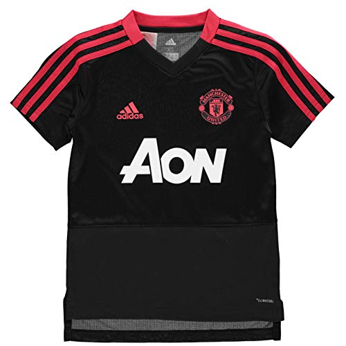 adidas Manchester United FC Official 2018/19 Training Jersey - Youth - Black/Red/Pink - Age 11-12