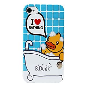 Duck Bathing Pattern Hard Case for iPhone 4 and 4S