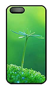 SUN VIGOR 5s Case A Green Flowered Durable and Comfortable iPhone 5s Cases Personalized Hard Black Cases