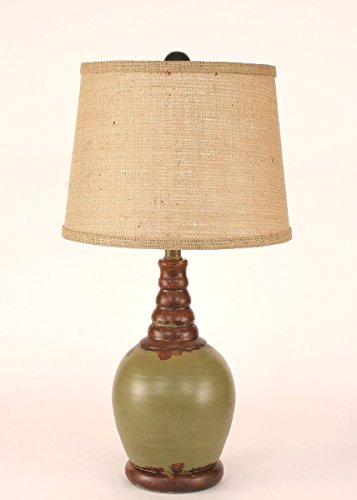 Coast Lamp Manufacturer 14-C9E Aged Seagrass Bulbous Accent Lamp - 23.5 (Bulbous Lamp)