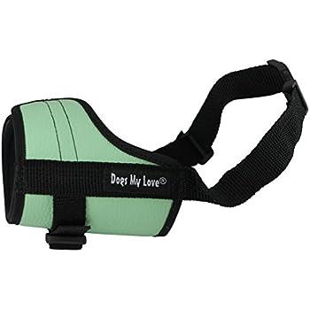 "Adjustable Dog Muzzle 6 Sizes Green (M: 8""-10.5"" Snout Circumf.)"