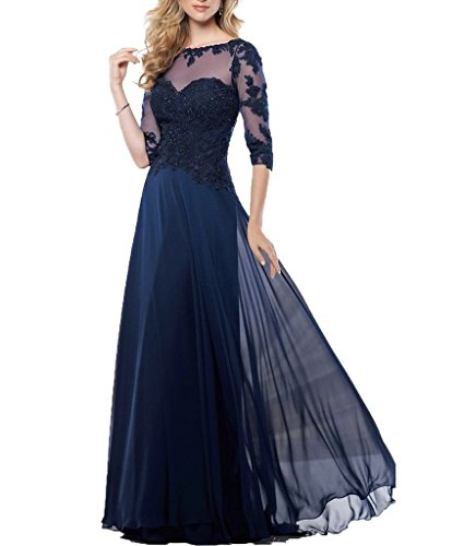 Fanmu Mother's Lace Half Sleeve Mother Of Bride Dress Prom Gowns
