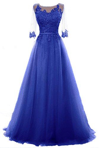 linie Ballkleid Vickyben Kleid Abendkleid Schnuerung Brautjungfer Tuell Langes A Azul Party Cocktail Prinzessin Damen EE8qgrH
