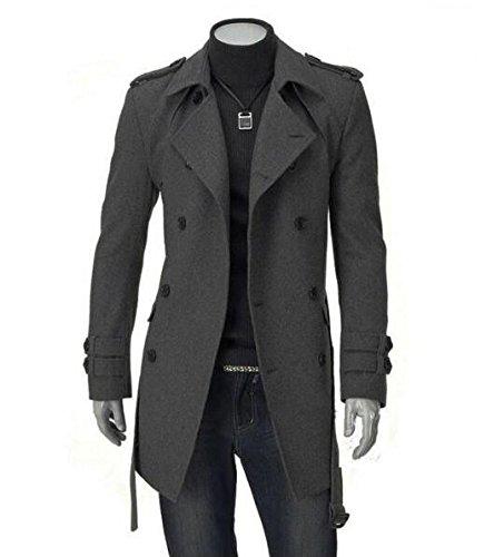 Amazon.com: GESELLIE - Chaqueta de lana para hombre, diseño ...