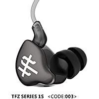 TFZ SERIES 1S Dynamic Dual Chamber HiFi Silver-Plated Cable In-Ear Earphones (Black)