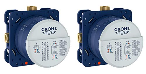 Grohe 35601000 Rapido Smartbox Universal Rough-In Box (Pack of 2)