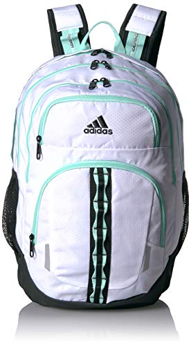 adidas Unisex Prime Backpack, White/Clear Mint/Black, ONE SIZE