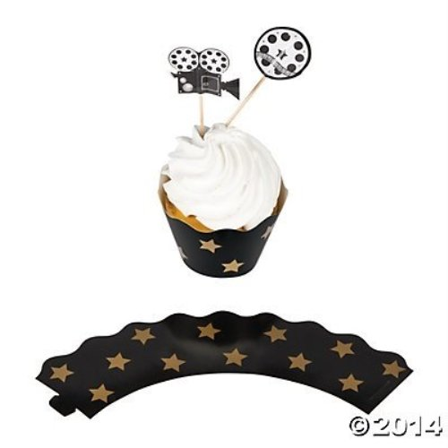 Movie Night Cupcake Wrappers Picks