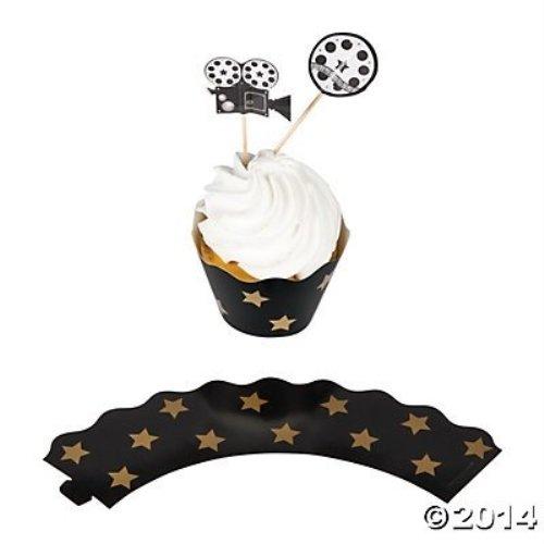Movie Night Cupcake Wrappers Picks