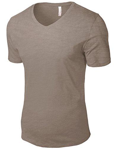 Tonyclo Men's Cotton Basic V-Neck Comfort Classic Soft Tee Shirts