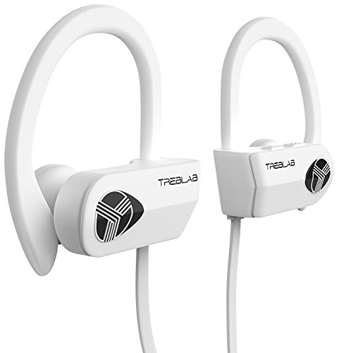 TREBLAB XR500 Bluetooth Headphones, Noise Cancelling Wireless Earbuds, Waterproof Sports Running Earphones, Secure-Fit Headset w/ Mic