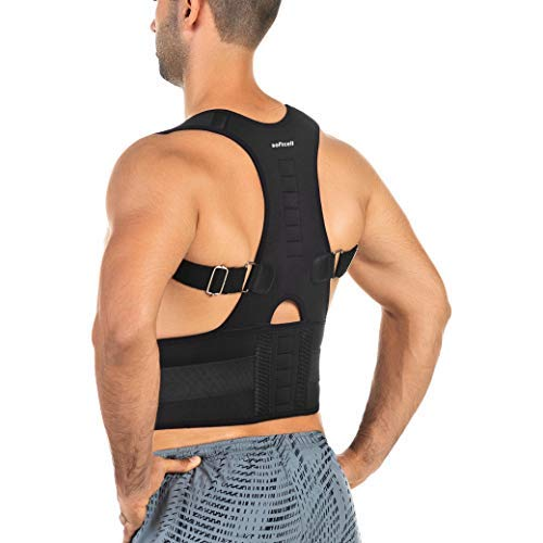 Posture Correction Back Brace | Adjustable Posture Corrector For Men and Women | For Posture Correction and Lumbar Support | Supports Lower and Upper Back | With Magnetic Stone Therapy Effect