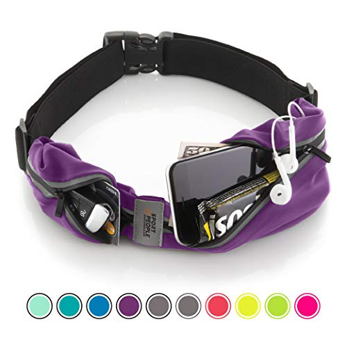 - Running Belt USA Patented. Fanny Pack for Hands-Free Workout. iPhone X 6 7 8 Plus Buddy Pouch for Runners. Freerunning Reflective Waist Pack Phone Holder. Men Women Kids Gear Accessories (Purple)
