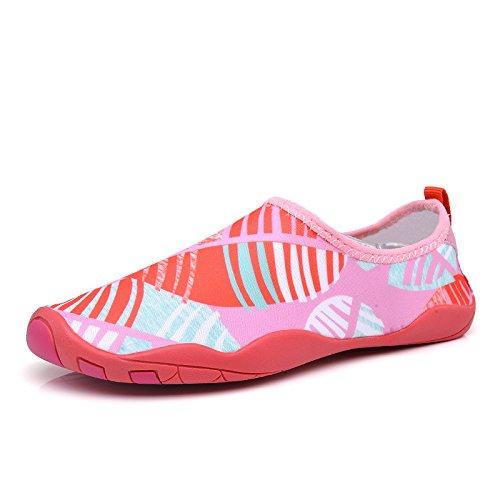 distancia de conducción natación de viajes Rosa ocio prueba patín Zapatos secado natación y rápido luz buceo zapatos larga de caminadora de Lucdespo danza yoga transpirable O6zvw