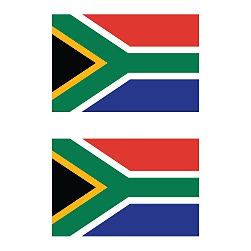 KW Vinyl Magnet Two Pack South African Flag Magnetic South Africa Car Magnet Bumper Sticker