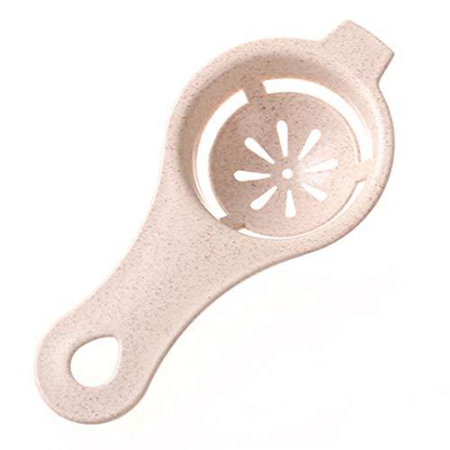 yanQxIzbiu Spoon Shape Egg Yolk Separator Divider Filter Baking Cake Tool Kitchen Gadget - Khaki