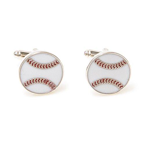 (MRCUFF Baseball Pair Cufflinks in a Presentation Gift Box & Polishing Cloth)