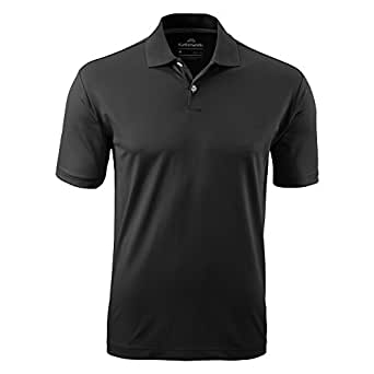 Kathmandu Vanua Men's Classic Short Sleeve Collar Polo Shirt Top v2 Black