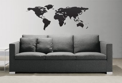 Amazon vinyl wall art decal sticker world map globe earth vinyl wall art decal sticker world map globe earth country 131 41x71 custom size gumiabroncs Images