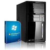 Shinobee PC Unité centrale pour ordinateur de bureau (Processeur Intel- Quad-Core - 4x2GHz, 2.41GHz en mode turbo - 500Go SATA3 - Intel HD Graphics - Mémoire RAM 8Go -- Windows7 Pro 64 Bit -- Lecteur graveur DVD - HDMI, VGA - USB 3.0) #4874