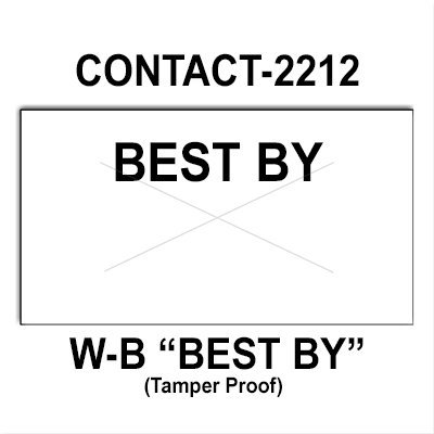 220,000 Contact compatible 2212 ''Best By'' White General Purpose Labels to fit the Contact 22-6, Contact 22-7, Contact 22-8 Price Guns. Full Case + includes 20 ink rollers. by Infinity Labels