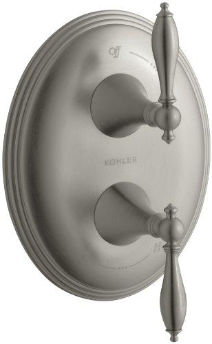 KOHLER K-T10302-4M-BN Finial Traditional Stacked Valve Trim, Vibrant Brushed Nickel