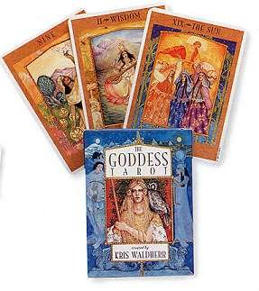 Party Games Accessories Halloween Séance Tarot Cards Goddess Tarot by Waldherr, Kris by AzureGreen